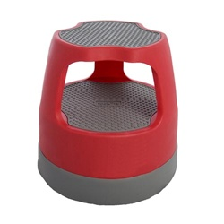 Step Stools Red Task It Scooter Rolling Step Stool